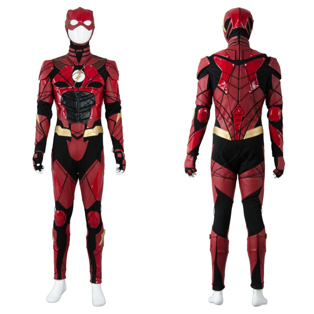 Justice League Cosplay Costume 2017 The Flash 2018 Movie Barry Allen Ezra Miller Cosplay Costume Adult Halloween Party Costume