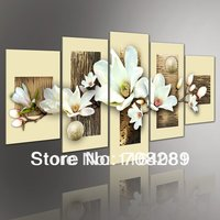 Magnolia 5pcs/set Modern abstract oil paintings seascape Pop painting wall art home decor artwork on canvas pictures No frame
