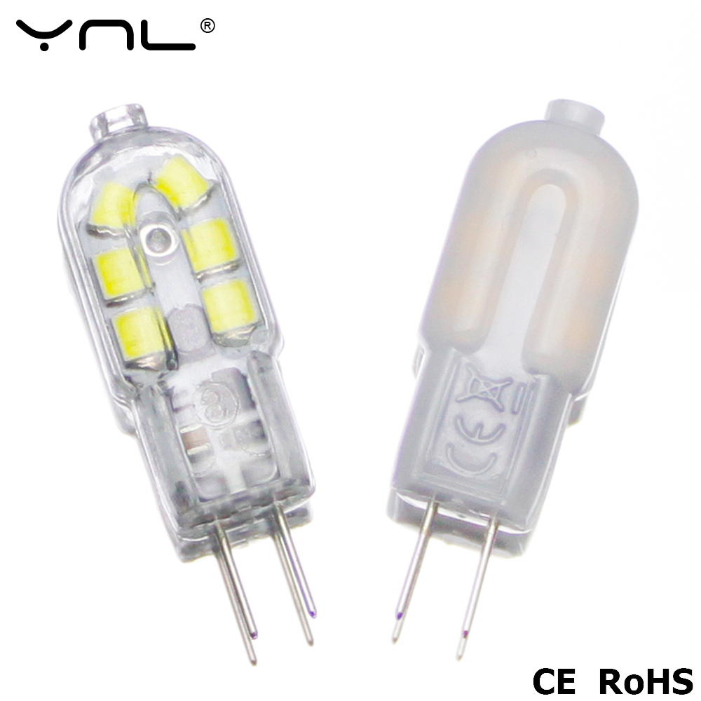 YNL G4 LED Lamp 2W DC 12V SMD 2835 Lampada LED G4 220V Mini Bulb Milky or Transparent 360 Beam Angle Lights Replace Halogen G4 ynl lampada led g4 lamp ac 220v 3w 4w 5w dc 12v g4 led bulb smd3014 2835 24 48 64 replace 10w 30w halogen spotlight chandelier