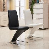 1 компл../2 шт. Простые Модные Z форма современный обеденный стул искусственная кожа обеденная стул в приемную отель дома популярные мебель