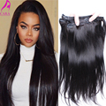 7A Peruvian Straight Clip In Human Hair Extensions 7Pcs Peruvian Virgin Hair Straight Clip In Hair Extensions Cara Hair Products