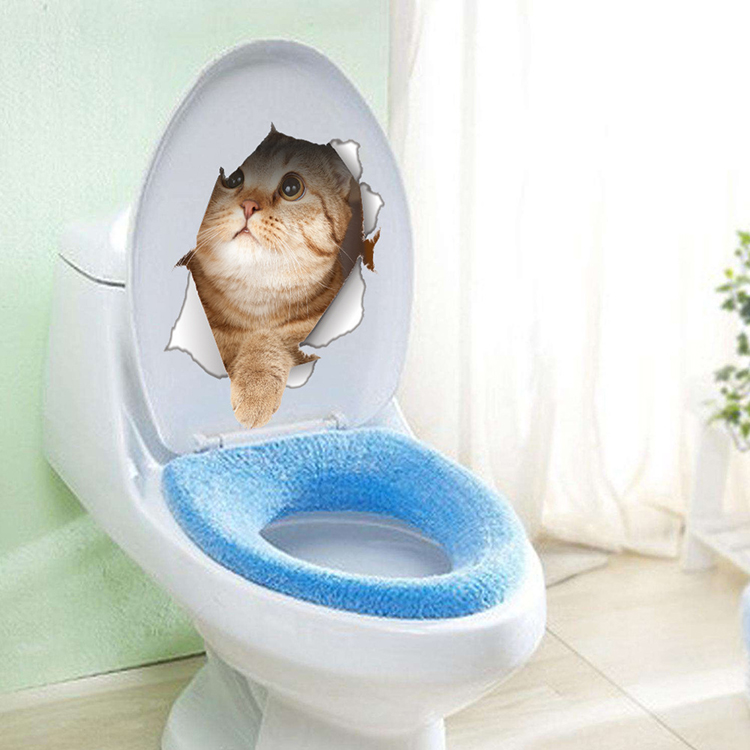 Cats 3D Wall Sticker Toilet Stickers Hole View Vivid Dogs Bathroom Cats 3D Wall Sticker Toilet Stickers Hole View Vivid Dogs Bathroom HTB16ZVtQFXXXXXzXVXXq6xXFXXXa