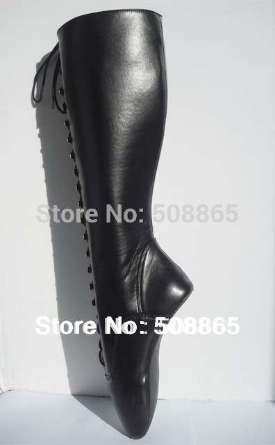 bee0e15c9e47 Black high heel boots hot sale without heels ballet boots