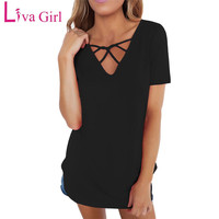 T Shirt Women Sexy Black Asymmetric One Shoulder Tops Tee T Shirt Summer White Belted Flare