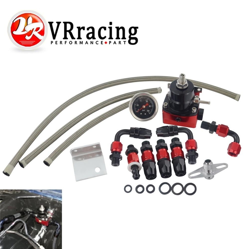 Gauge Universal auto fpr AN6 Fittings fuel pressure regulator For 7MGTE MKIII