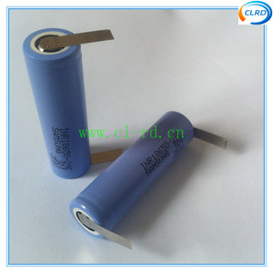 2pcs/lot 2900mah 10A continuous discharge rate 18650 battery cells with nickel tabs for vacuum cleaner