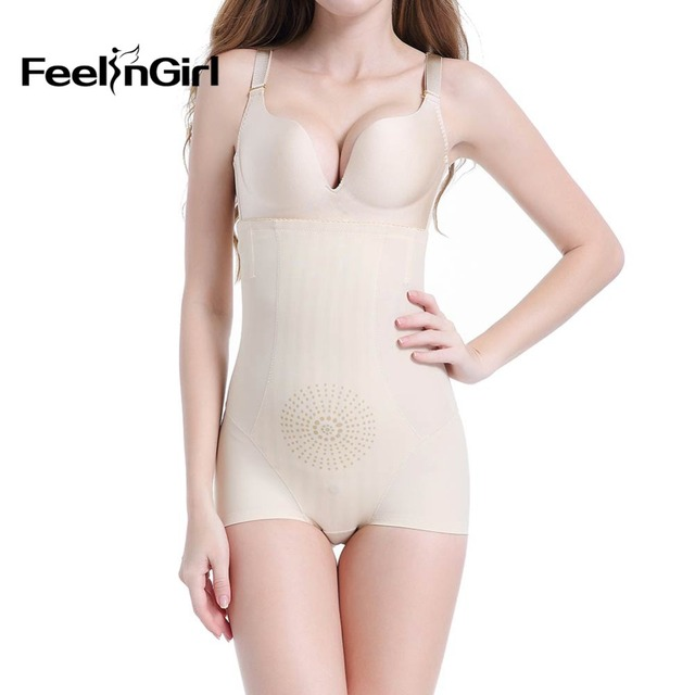 db00812d899d5 FeelinGirl New Butt Lifter Tummy Control Waist Shaperwear Slimming Plus  Size Invisible Volcanic Stones Lifting Panty -E