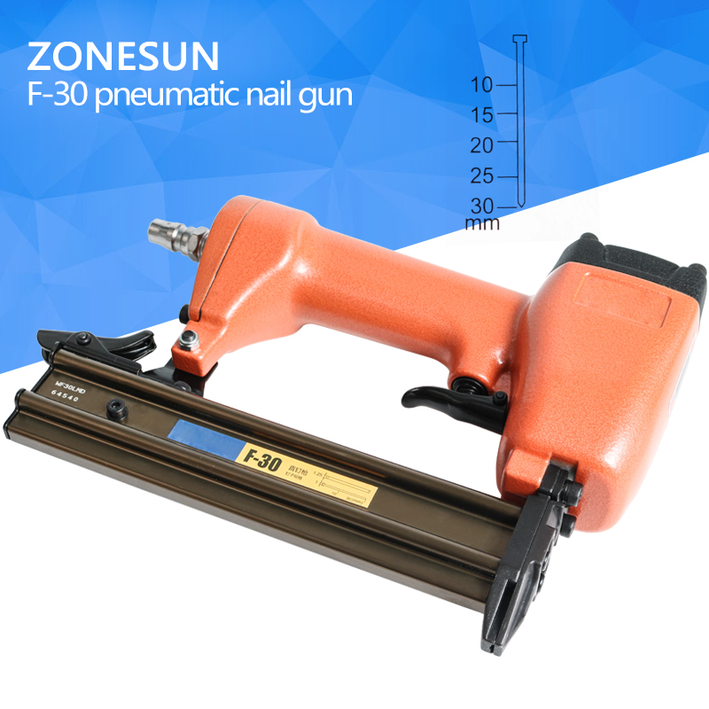 ZONESUN ZS-30 air straight nail pin gun Pneumatic micro pinner nailer brad for Furniture Wood Sofa woodworking Stapler 10-30mm