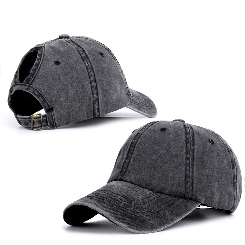 Hot Washed   Baseball     Cap   Fitted   Cap   Snapback Hat for Men Women Gorras Casual Casquette Black Dad Hat   Caps