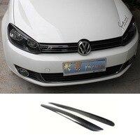 Golf 6 GTI R20 Carbon Fiber car Headlight Eyebrows cover trim sticker for Volkswagen