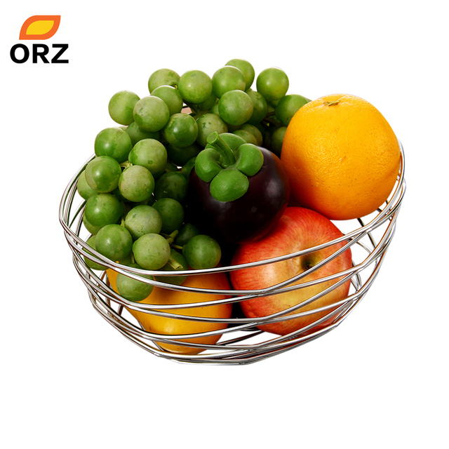 Orz Fruit Basket Metal Wire Bird S Nest Banana Holder Rack Vegetable Table Dining Wedding Decoration
