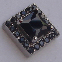 Cool Men Boy S Paved Black Cz 316L Stainless Steel Earring Stud
