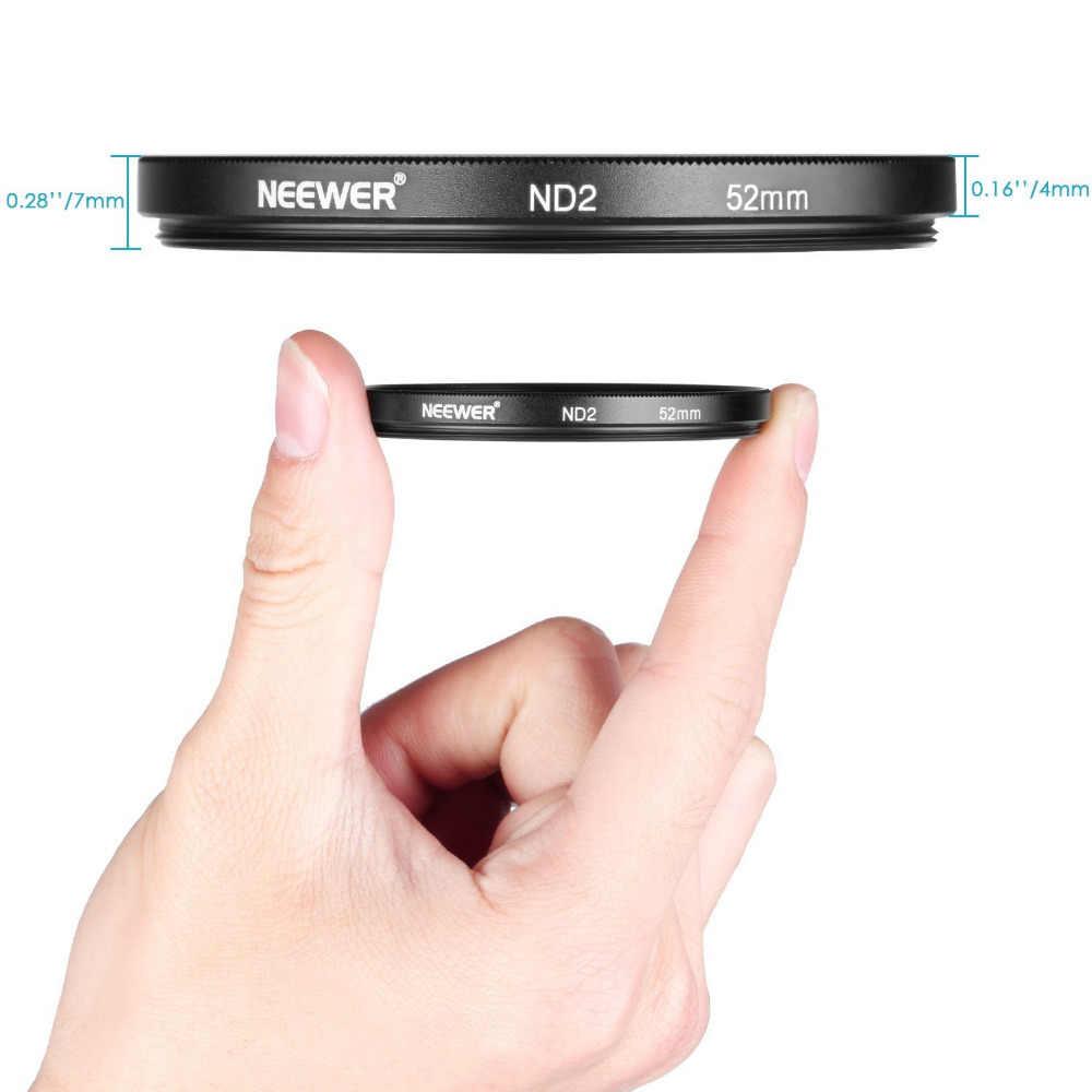 Neewer 52 มม. ND2 ND4 ND8 ND16 Filter อุปกรณ์เสริมสำหรับ Nikon D3300 D3100 D3000 D5300 D5200 D5100 D5000 D7000 d7100 Dslr เลนส์ปากกา