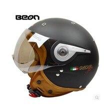 2015 vintage off road motorbike men feminino motorcycle helmet  vespa casco capacete Beon open face capacetes motociclistas