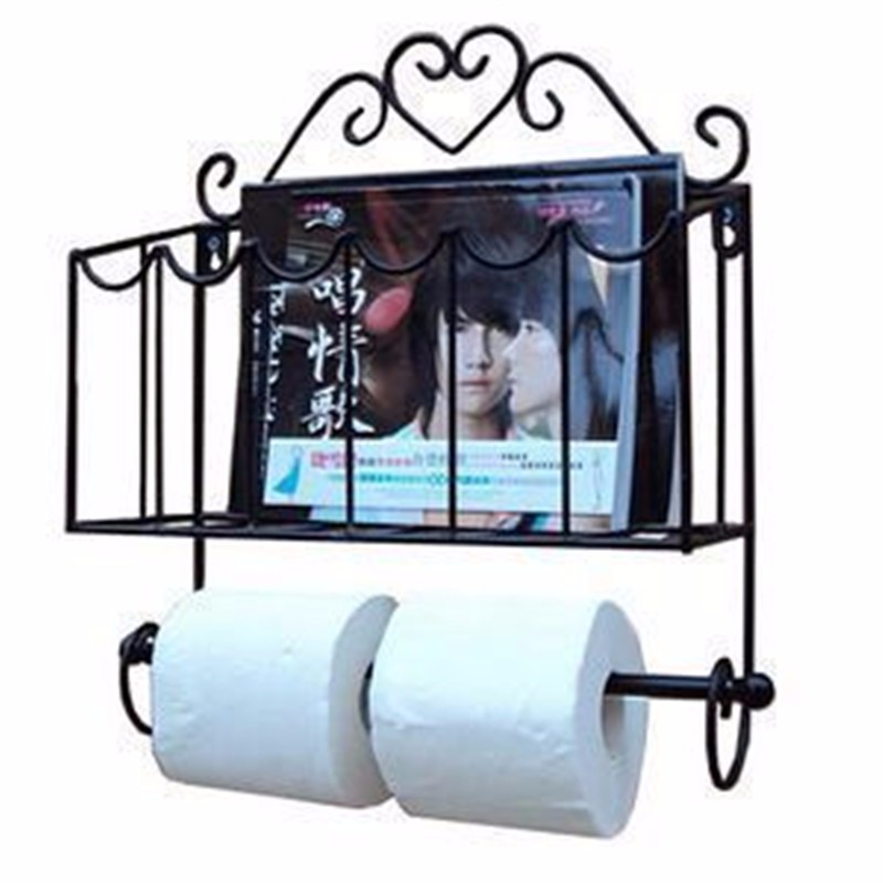 Fashion Wrought Iron Furniture Paper Towel Holder Magazine