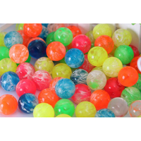 25mm Rubber Bouncing Ball 10pcs/lot Mix Colors Clouds Design Jumping Bouncy Rubber Balls Colorful Kids Toy Ball Wholesale