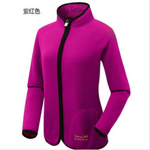 Free Shipping-2016 NEW Winter Terwsunsky Female  Outdoor Thickening Velvet Reversible Fleece Windproof Jackets TR037