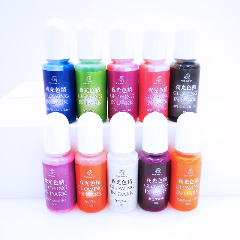 Glowing in dark High Concentration Epoxy UV Resin Coloring Dye Colorant Pigment Handmade DIY Jewelry Making Access 6