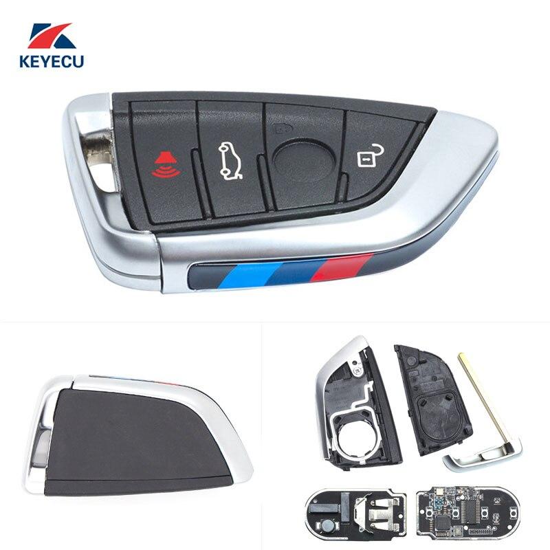 KEYECU Genuine Replacement Remote Car Key Fob 4 Button 434MHz for BMW X5 X6 2014 2016