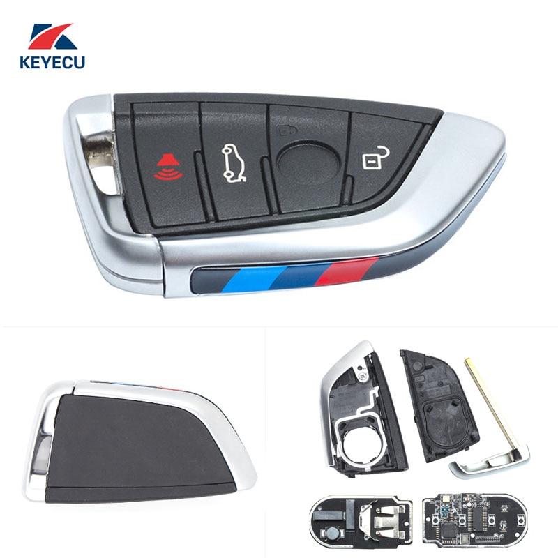 KEYECU véritable remplacement télécommande voiture clé Fob 4 bouton 434 MHz pour BMW X5 X6 2014-2016 FCC ID: NBGIDGNG1, noir
