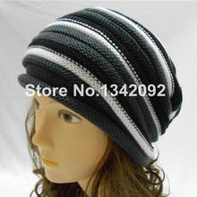 Зимняя женская мужская вязаная шапка, красивый дизайн, мешковатые, унисекс, вязаная шапка с черепом, Новинка