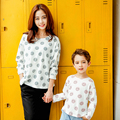 Smile Face Family Look Cotton Mother Daughter/Son Clothes Mom and Daughter Matching Clothes Family Clothing Parent-Child Set N68