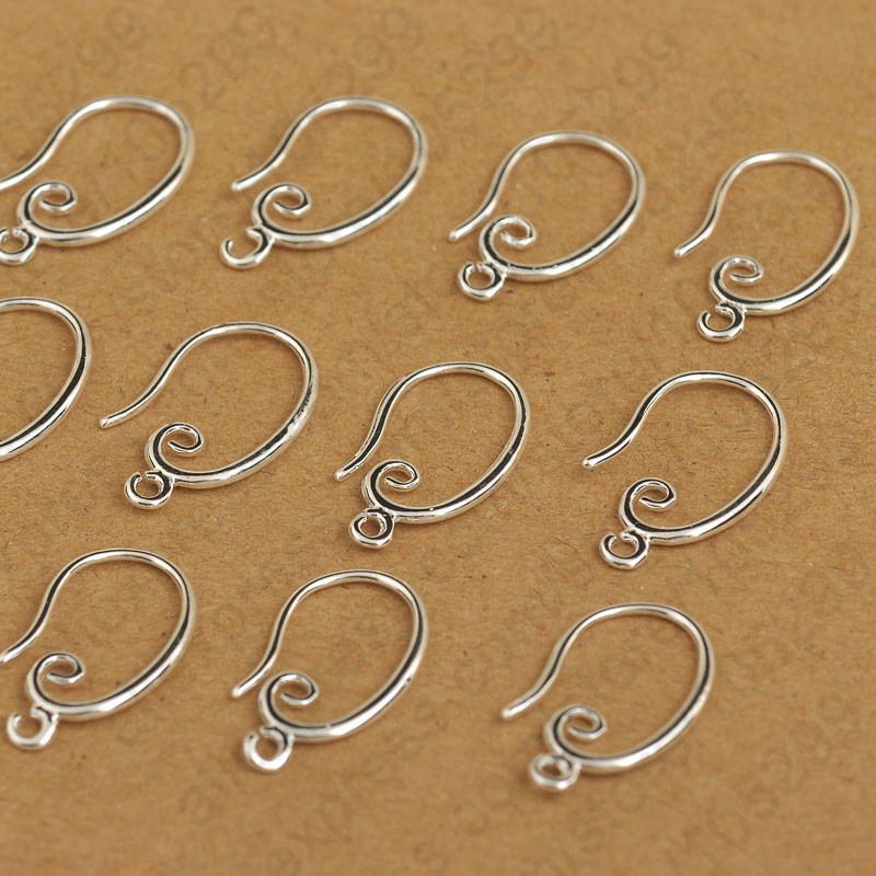50-500pcs Silver Hook Earring Earwire DIY Jewelry Finding Accessories Wholesale