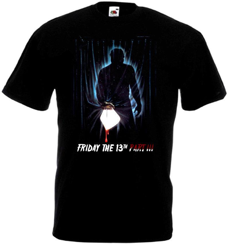 Friday The 13 v37 T-Shirt all sizes S-5XL BLACK
