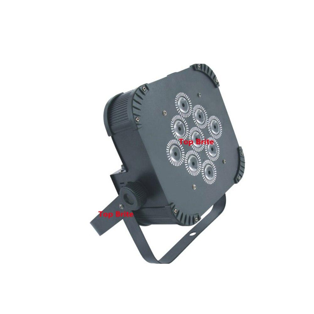 4 Stks / partij Gratis Verzending 9X15 W RGBWA 5IN1 LED Platte Par - Commerciële verlichting - Foto 4