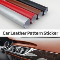 1.52x10m Black/Silver/Red/Brown Car Leather Car Wrap Vinyl Film Carbon Fiber Film Automobiles Motorcycle Car Styling Sticker