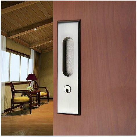 Move The Door Of Modern Steel Wire Drawing Sliding Door Lock Hook Hanging  Sliding Door Embedded Toilet Door Lock In Locks From Home Improvement On ...