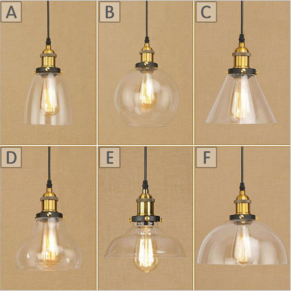 AC100-240V Lustre Classic Vintage Light Cafe Creative Glass Pendant Lamp Clothing Store Fixtures Hanging Pendant Lights simline vintage 100