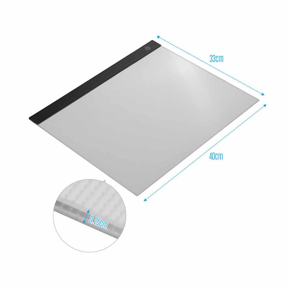Светодиодный светильник A3, панель, графический светильник, цифровой планшет, с 3 уровнями яркости, для отслеживания рисунка, копировальный светильник, Pad a3