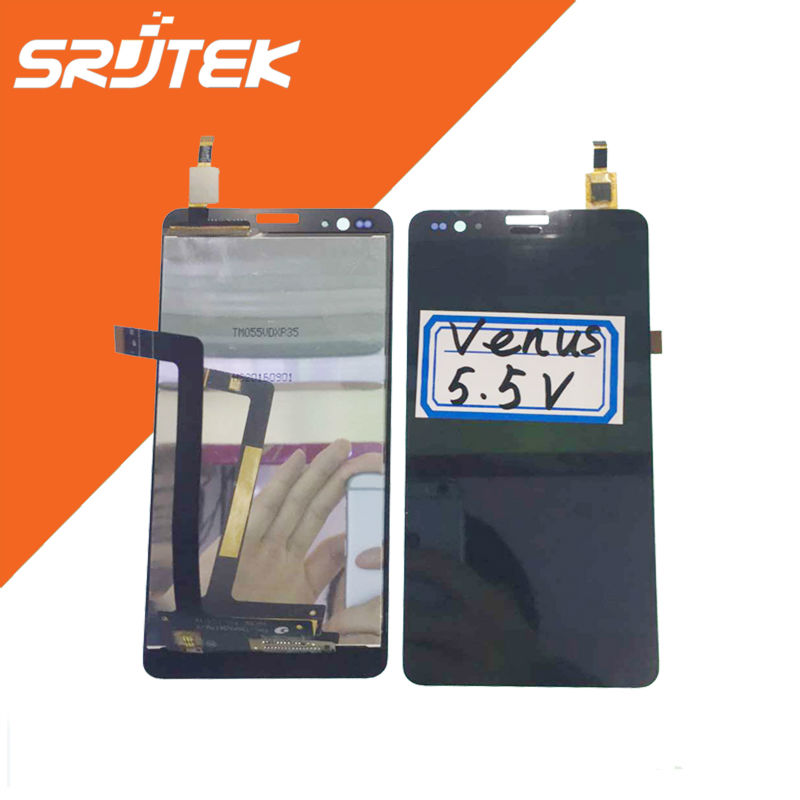 ФОТО For Venus 5.5V Full LCD Display Panel with Touch Screen Digitizer Sensor Full Assembly Replacement Parts