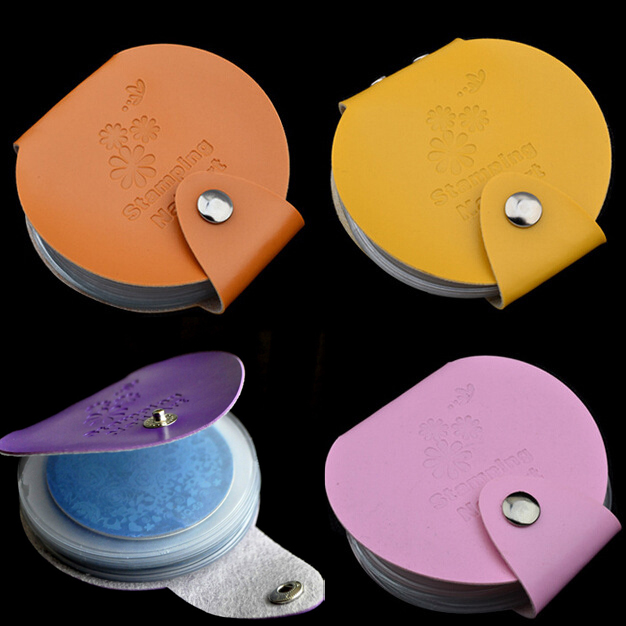 Nieuwe 24 Slots Lederen Nail Art Stempelplaten Casetasmap Nail