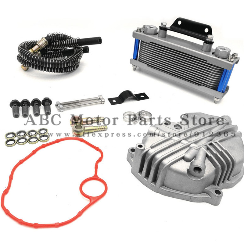 Oil Cooler  radiator Dirt Pit Bike Monkey Racing Motorcyle High performance refires accessories Kayo BSE Curved beam Bike-in Engine Cooling & Accessories from Automobiles & Motorcycles    1