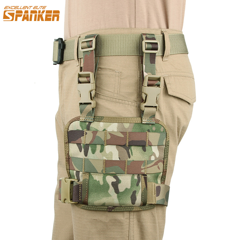 EXCELLENT ELITE SPANKER Molle Outdoor Military Mesh Tools Pouch Tactical Leg Bag Hunting Bags Pack Accessory Magazine Pouches image