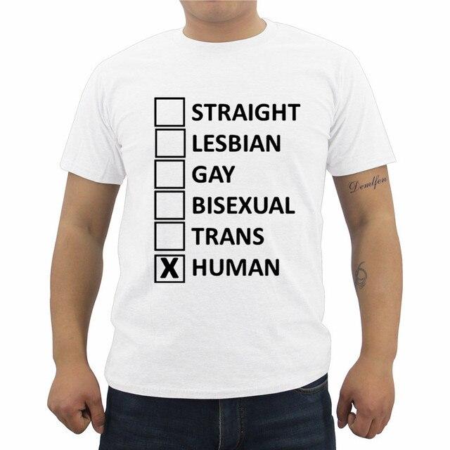 Gay lesbian bisexual straight human t-shirt