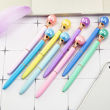 18 Color Luxury Pearl Ballpoint Pens Novelty Cute Student School Office Writing Pen Metal Gift Stationary Kawaii