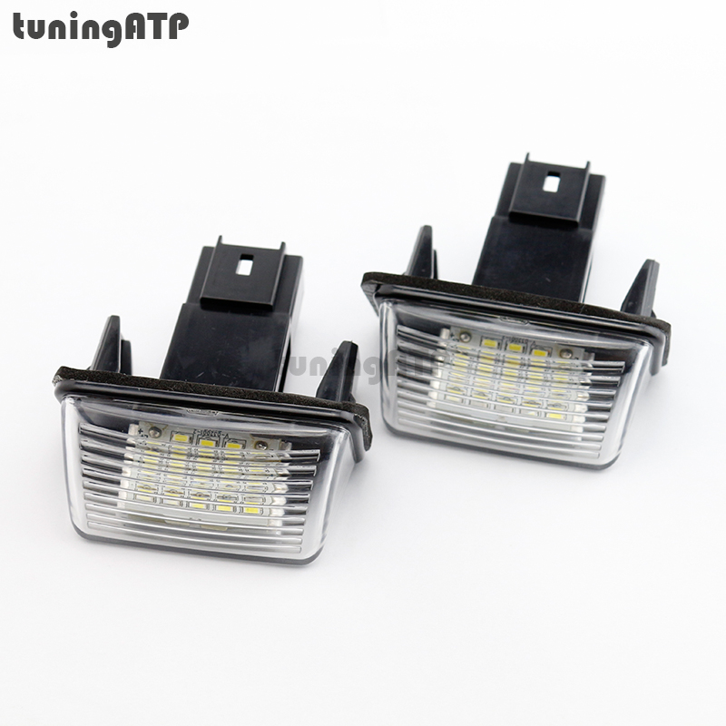 18-SMD LED License Plate Lights Module for Peugeot 206 207 306 307 308 406 407 5008 Partner SUPER BRIGHT WHITE gt1544v turbo cartridge 753420 5005s 753420 5004s 207 307 407 1007 3008 5008 206 partner 1 6 hdi fap aaa turbocharger parts