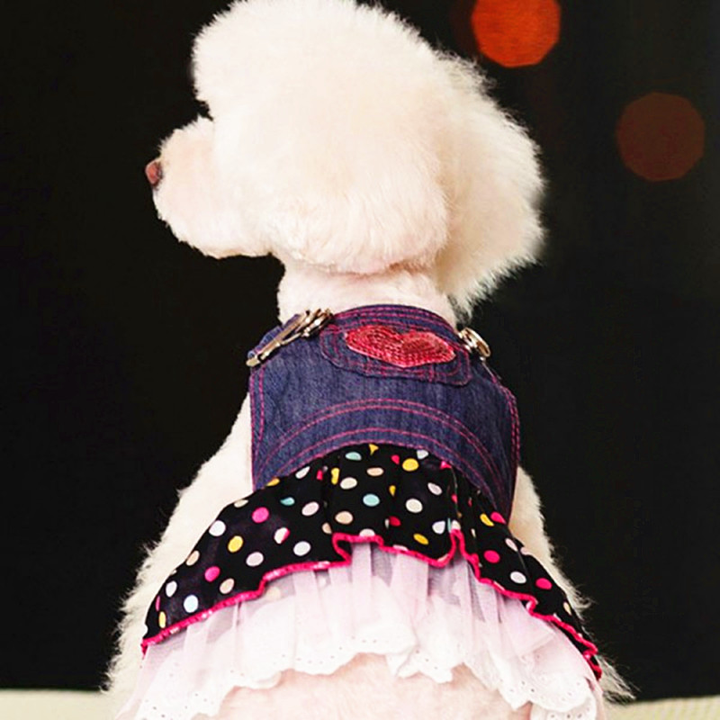 Pet Dresses for Dog Jeans Clothes pets products Dog Small Animall Dress Clothes for Dogs Maltese Yorkie Chihuahua 10