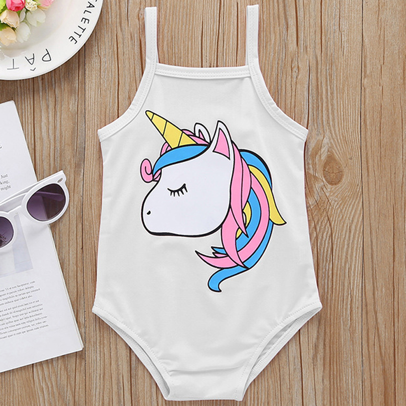 2019 New Summer Toddler Infant Newborn Baby Girls Sling Swimsuit 0-24m Sleeveless Cartoon Animal Hippocampus Swimwear Beachwear Relieving Heat And Sunstroke Swimwear
