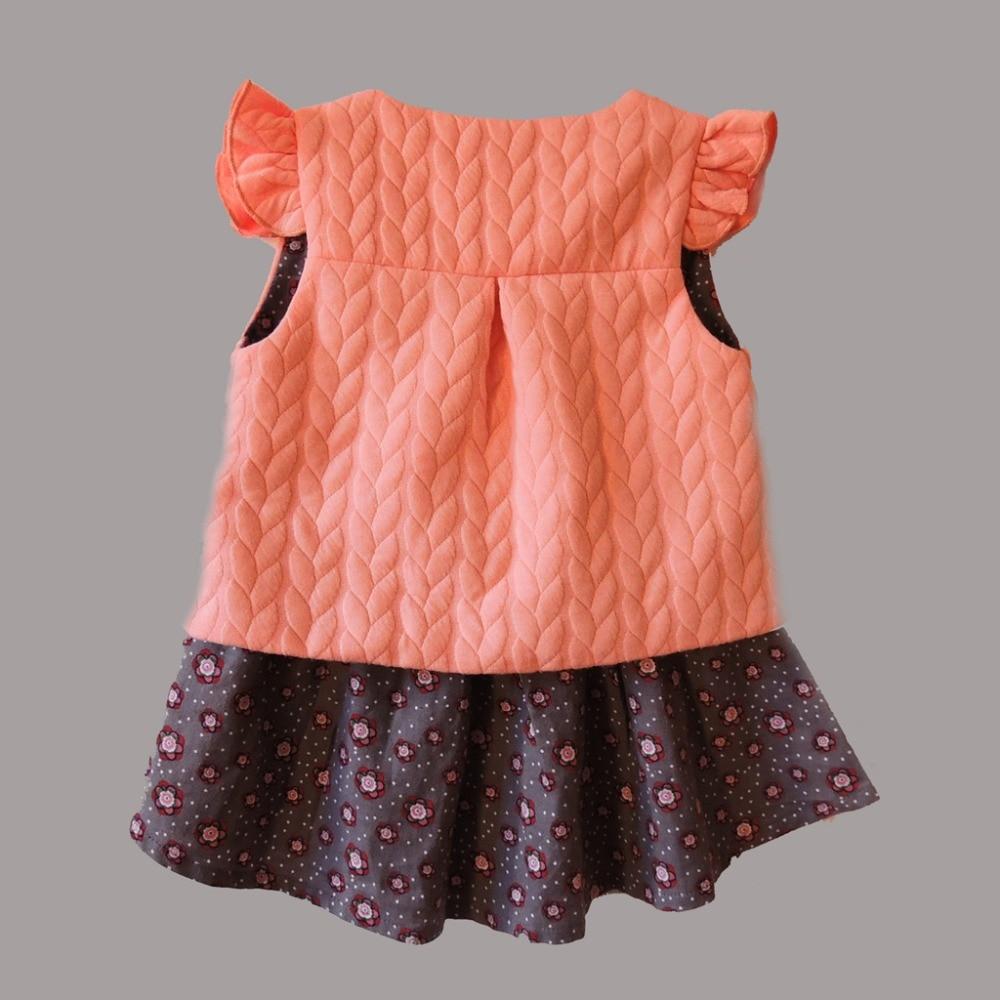 Yeni 2019 Bahar Baby Girl Pambıqlı paltarları qolsuz Gözəl - Uşaq geyimləri - Fotoqrafiya 5