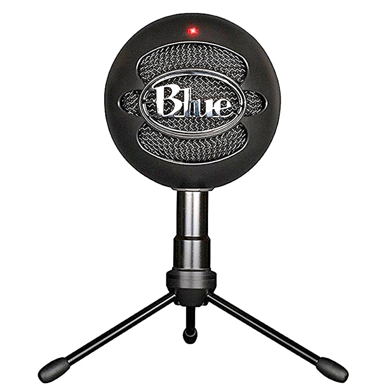100% Original Blue Snowball ICE Condenser Microphone for Computer Cardioid Black color-in Microphones from Consumer Electronics    3