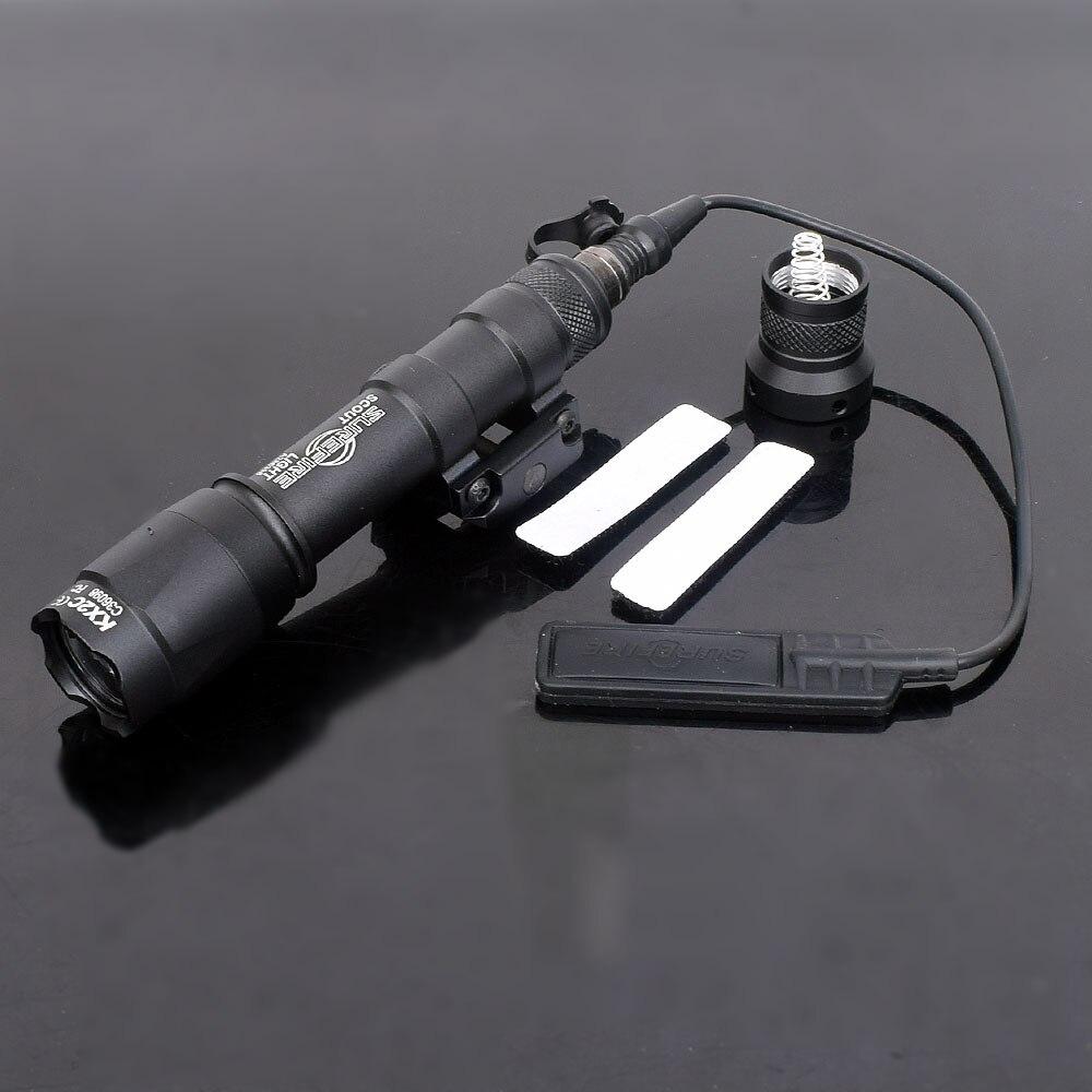 M600C Тактический Скаут светильник винтовка фонарик для оружия светильник светодиодный Охота Точечный светильник постоянной и мгновенный Вы...