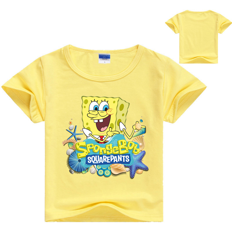 ALI shop ...  ... 33004512064 ... 5 ... Cartoon Sponge Bob T Shirt Boys Girls 2018 Summer Children's Clothing Cotton Toddler Girl Tops Tee Boy Kids T-shirt 3-14Y ...
