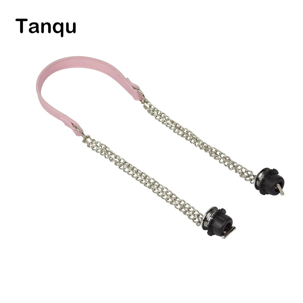 2019 New TANQU 1 Piece Obag Silver Long  Double Chain With Metal Plating Screw For OBag Handle O Bag Women Bag Shoulder HandBag