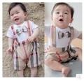 Bebê recém-nascido Romper xadrez arco menina roupas ropa bebes mameluco macacão bebe barboteusemacacao bebe menino camisa