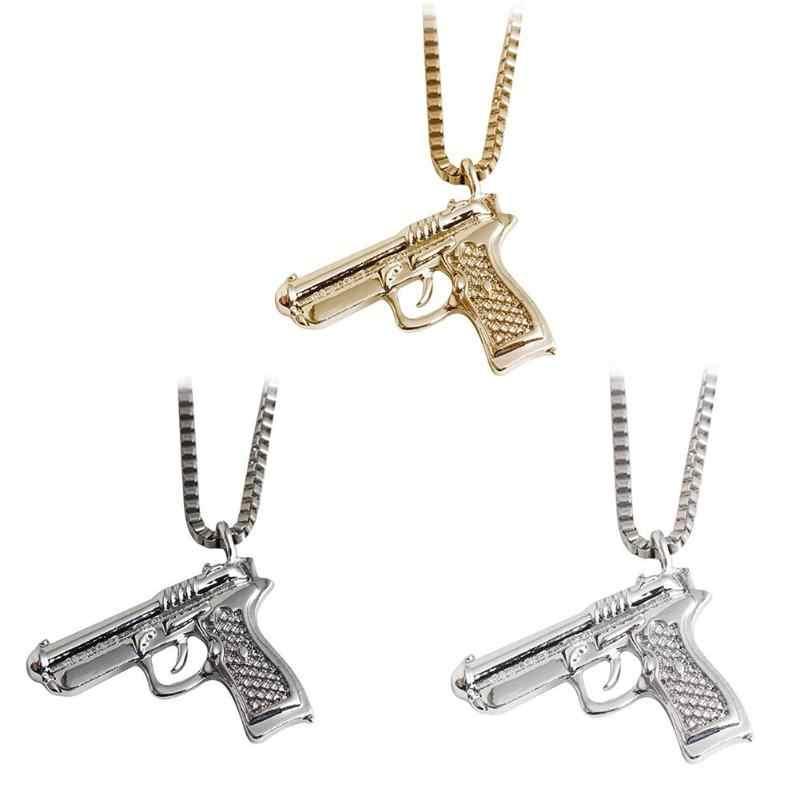 Hip Hop คอทอง Rose ชุบปืนจี้และสร้อยคอสร้อยคอผู้หญิง PARTY อุปกรณ์เสริม