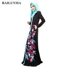 Высококачественное мусульманское платье с принтом абайя мусульманская